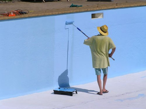 Long term water protection of swimming pools by epotec epoxy pool paint