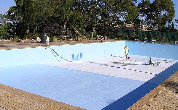 Get hard waterproof coating with epoxy pool paint